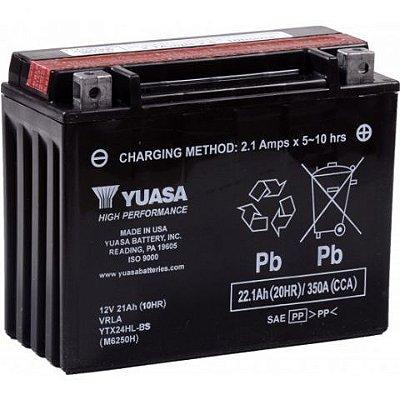 Bateria Yuasa YTX24HL-BS |12V - 21Ah| ZG1200, GL1500, Harley-Davidson 1340 FL, FLH Series (Touring), Bombardier (Can-Am) 650 Quest (Opt)