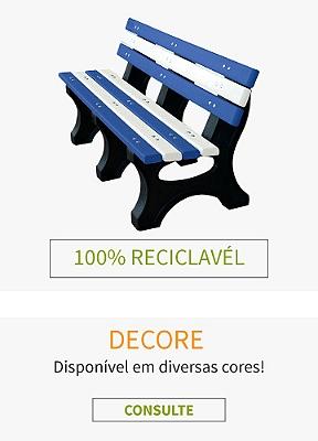 Decoração com madeira plástica 100% reciclada