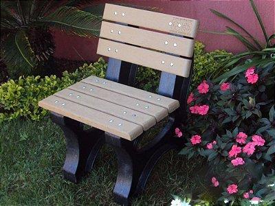 Banco Búzios madeira plástica 0,50m - Policog