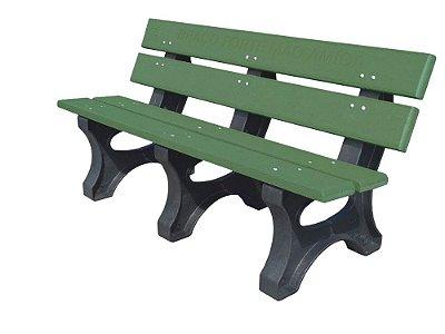 Banco Angra personalizado madeira plástica 1,50m verde - Policog
