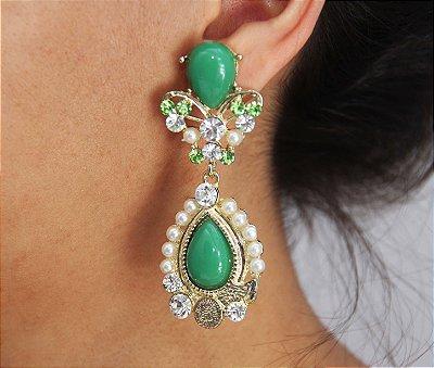 Brinco Glamour Verde
