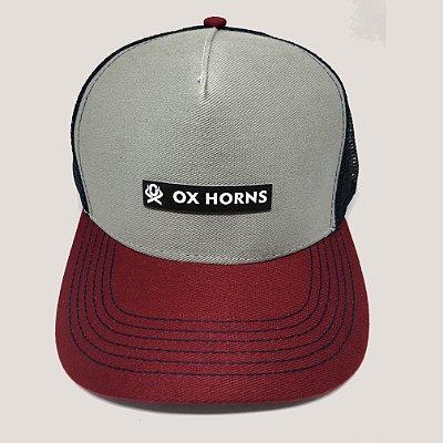 BONÉ Ox Horns Aba Vermelha