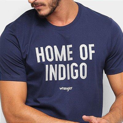 Camiseta Wrangler Home Of Indigo Masculina - Marinho