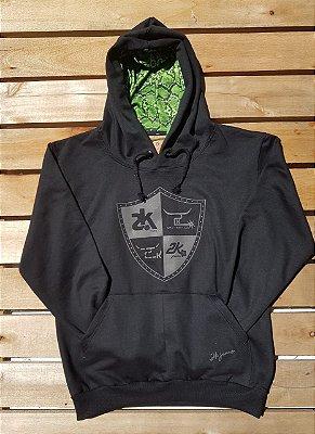 Moleton 2k - preto/cinza/verde