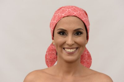 Lenço Quimioterapia Chapéu Rosa Modena