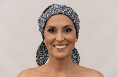 Lenço Quimioterapia Chapéu Jeans Florido