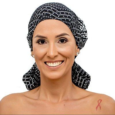 Lenço Quimioterapia Beanie Degrade Preto