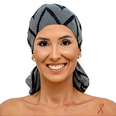 Lenço Quimioterapia Beanie Preto Dot