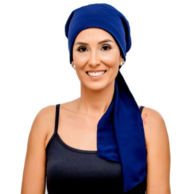 Lenço Quimioterapia Headscarf Azul