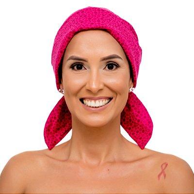 Lenço Quimioterapia Chapéu Rosa Florzinha