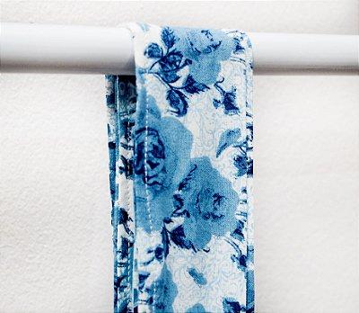 Faixa Branco Floral Azul