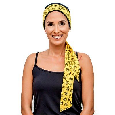 Gorrinho na Cor Desejada + Faixa Amarelo Florzinha