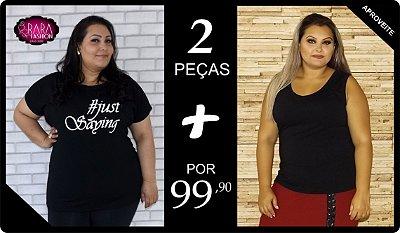 T-Shirt + Regata Plus Size