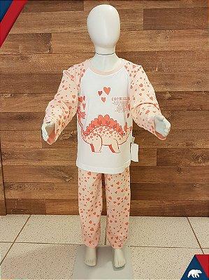 Pijama Estegossaura Longo M/Malha