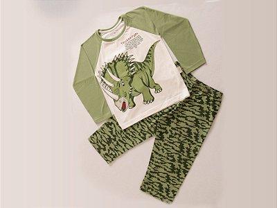 Pijama Triceratops Longo M/Malha