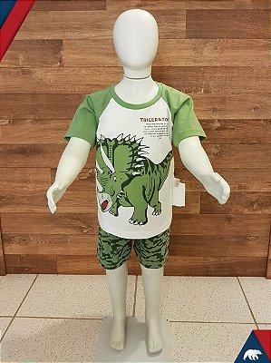 Pijama Triceratops Curto M/Malha