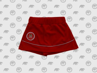 Short Saia Helanca Infantil Uniforme Maple Bear