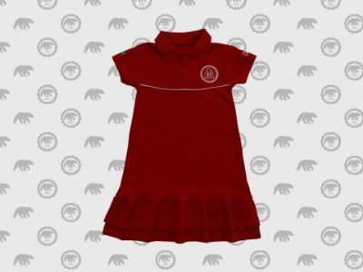 Vestido Piquet Infantil Uniforme Maple Bear