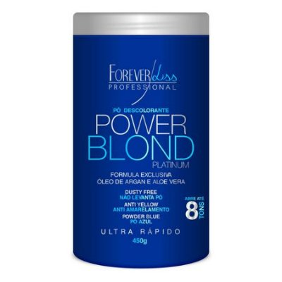 Pó Descolorante Azul Power Blond 450g Forever Liss