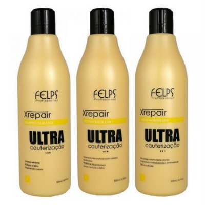Kit Ultra Cauterização 3x500ml Xrepair Felps