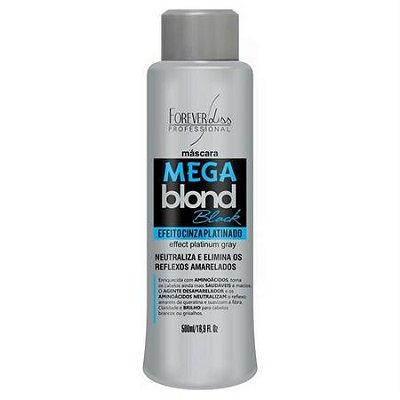 Máscara Matizadora Mega Blond Black 500ml Forever Liss
