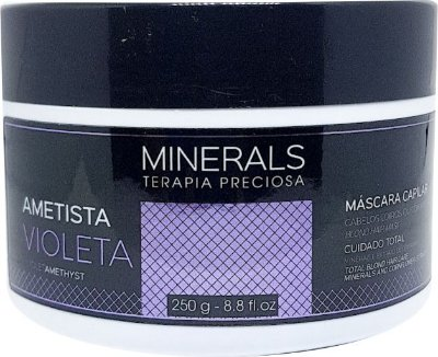 Máscara Ametista Violeta 250gr Minerals Terapia Preciosa - Left Cosméticos