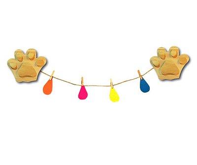 Cordão para quarto infantil Pegadinha