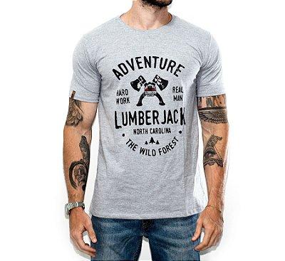 Camiseta Adventure O Lenhador - CINZA