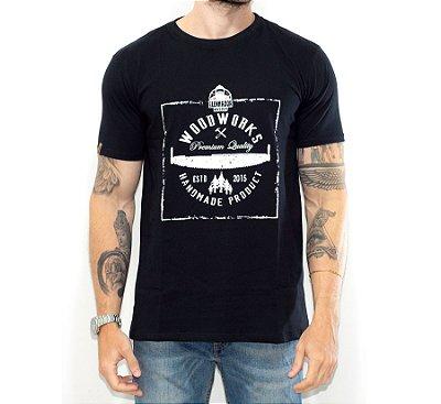 Camiseta Woodworks O Lenhador - Preta