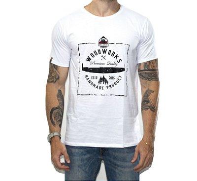 Camiseta Woodworks O Lenhador - Branca