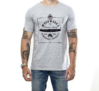 Camiseta Woodworks O Lenhador - Cinza