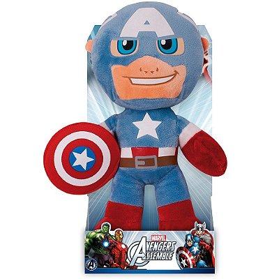 Pelucia Capitão América  Marvel