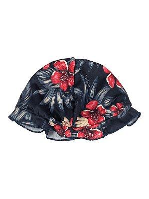 Chapéu Up Baby Praia UV 50+ FPS Floral Marinho