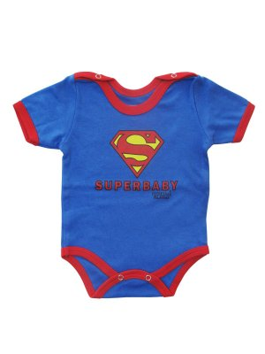 Body Divertido para Bebê Super Baby Manga Curta