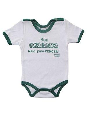 Body Divertido para Bebê Sou Coxa Branca Manga Curta