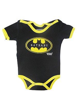 Body Divertido para Bebê Bat Baby Manga Curta