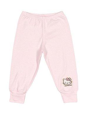 Calça em Suedine Rosa Hello Kitty