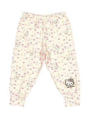 Calça em Suedine Setas Hello Kitty