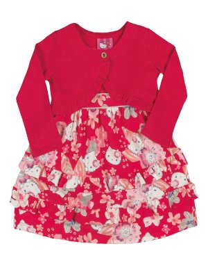 Vestido e Bolero Floral Hello Kitty