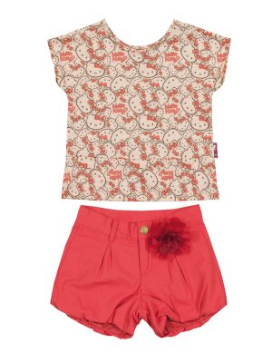 Conjunto Blusa e Shorts Hello Kitty