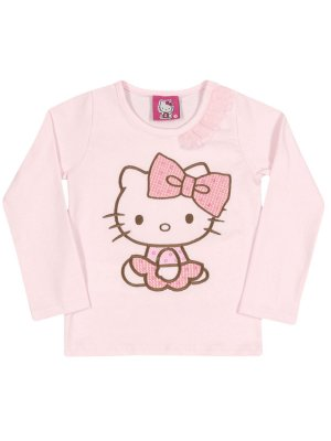 Blusa Manga Longa Cotton Light Hello Kitty