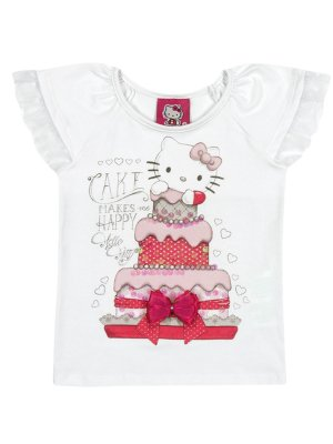 Blusa Cake Makes me Happy Hello Kitty
