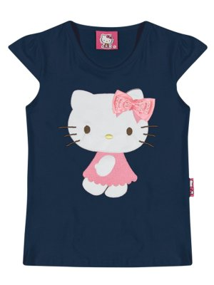 Blusa em Cotton Light Corino Hello Kitty