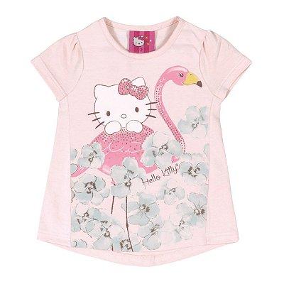 Blusa Flamingo Rosa Hello Kitty