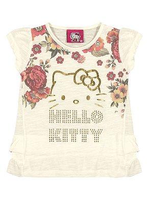 Blusa em Malha Flamê Gaze Hello Kitty