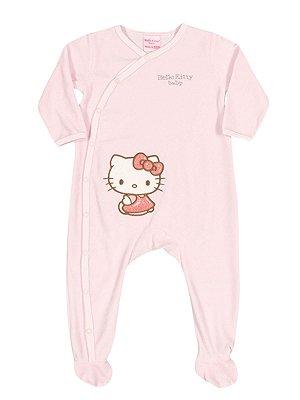 Macacão em Plush Rosa Hello Kitty