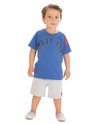 Conjunto Bermuda e Camiseta Boy Team Up Baby