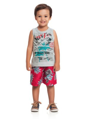 Conjunto Regata e Bermuda Surfer Loopy de Loop
