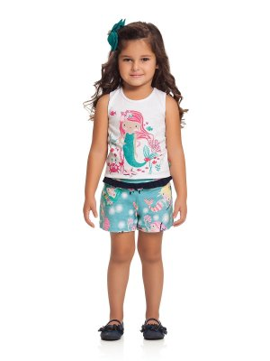 Conjunto Regata e Shorts Sereia Loopy de Loop