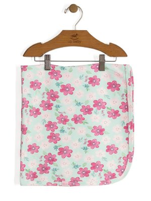Manta Shine Floral Rosa Up Baby